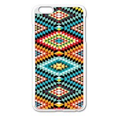 African Tribal Patterns Apple iPhone 6 Plus/6S Plus Enamel White Case