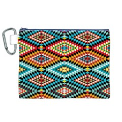 African Tribal Patterns Canvas Cosmetic Bag (xl)