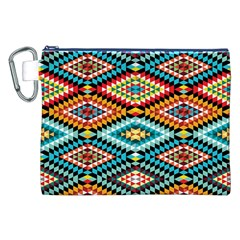 African Tribal Patterns Canvas Cosmetic Bag (xxl)