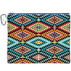 African Tribal Patterns Canvas Cosmetic Bag (xxxl)
