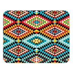 African Tribal Patterns Double Sided Flano Blanket (large)