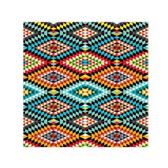 African Tribal Patterns Small Satin Scarf (square)