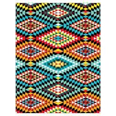 African Tribal Patterns Drawstring Bag (Large)