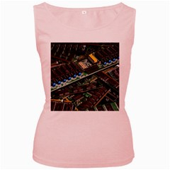 Computer Ram Tech Women s Pink Tank Top