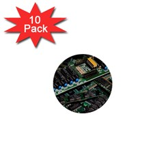 Computer Ram Tech 1  Mini Buttons (10 pack)