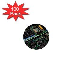 Computer Ram Tech 1  Mini Buttons (100 Pack)