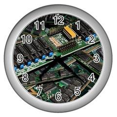 Computer Ram Tech Wall Clocks (silver)