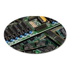 Computer Ram Tech Oval Magnet