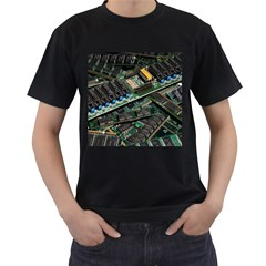 Computer Ram Tech Men s T Shirt (black) (two Sided)