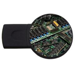 Computer Ram Tech Usb Flash Drive Round (4 Gb)