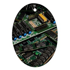Computer Ram Tech Oval Ornament (Two Sides)