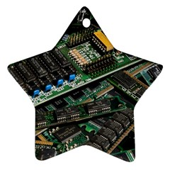 Computer Ram Tech Star Ornament (two Sides)