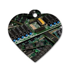 Computer Ram Tech Dog Tag Heart (two Sides)