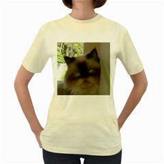 Seal Point Himalayan Women s Yellow T-Shirt
