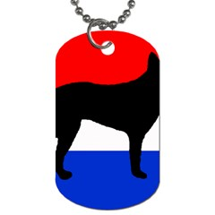 Dutch Shepherd Netherlands Flag Dog Tag (One Side)