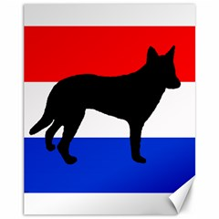 Dutch Shepherd Netherlands Flag Canvas 11  x 14