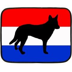 Dutch Shepherd Netherlands Flag Double Sided Fleece Blanket (Mini)