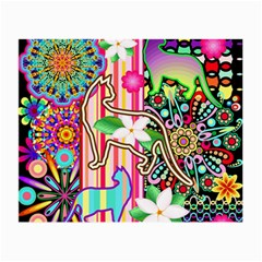Mandalas, Cats and Flowers Fantasy Digital Patchwork Small Glasses Cloth