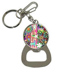 Mandalas, Cats and Flowers Fantasy Digital Patchwork Button Necklaces