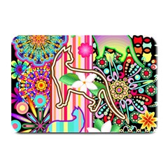 Mandalas, Cats and Flowers Fantasy Digital Patchwork Plate Mats