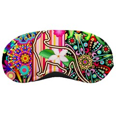 Mandalas, Cats and Flowers Fantasy Digital Patchwork Sleeping Masks