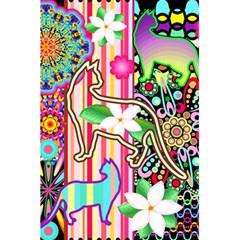 Mandalas, Cats and Flowers Fantasy Digital Patchwork 5.5  x 8.5  Notebooks