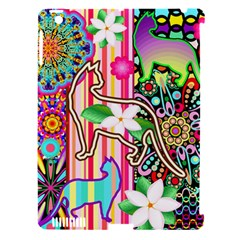 Mandalas, Cats and Flowers Fantasy Digital Patchwork Apple iPad 3/4 Hardshell Case (Compatible with Smart Cover)