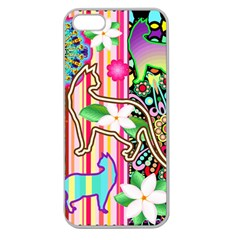 Mandalas, Cats and Flowers Fantasy Digital Patchwork Apple Seamless iPhone 5 Case (Clear)