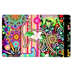 Mandalas, Cats and Flowers Fantasy Digital Patchwork Apple iPad 2 Flip Case