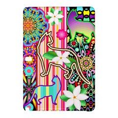 Mandalas, Cats and Flowers Fantasy Digital Patchwork Samsung Galaxy Tab Pro 10.1 Hardshell Case