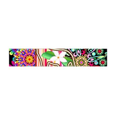 Mandalas, Cats and Flowers Fantasy Digital Patchwork Flano Scarf (Mini)