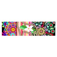 Mandalas, Cats and Flowers Fantasy Digital Patchwork Satin Scarf (Oblong)