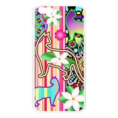 Mandalas, Cats and Flowers Fantasy Digital Patchwork Apple Seamless iPhone 6 Plus/6S Plus Case (Transparent)