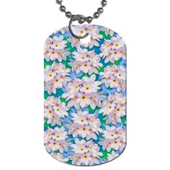 Plumeria Bouquet Exotic Summer Pattern  Dog Tag (Two Sides)