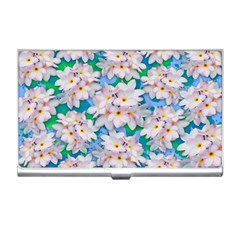 Plumeria Bouquet Exotic Summer Pattern  Business Card Holders
