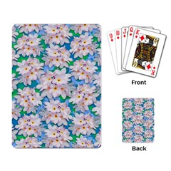 Plumeria Bouquet Exotic Summer Pattern  Playing Card