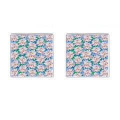 Plumeria Bouquet Exotic Summer Pattern  Cufflinks (Square)