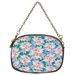 Plumeria Bouquet Exotic Summer Pattern  Chain Purses (One Side)