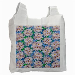 Plumeria Bouquet Exotic Summer Pattern  Recycle Bag (One Side)