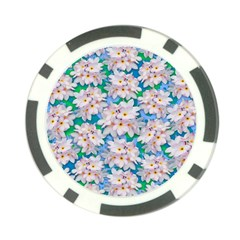 Plumeria Bouquet Exotic Summer Pattern  Poker Chip Card Guard (10 pack)