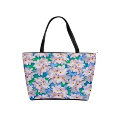 Plumeria Bouquet Exotic Summer Pattern  Shoulder Handbags