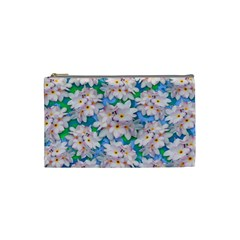 Plumeria Bouquet Exotic Summer Pattern  Cosmetic Bag (Small)