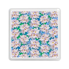 Plumeria Bouquet Exotic Summer Pattern  Memory Card Reader (Square)