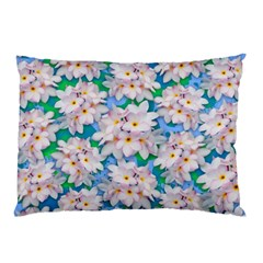 Plumeria Bouquet Exotic Summer Pattern  Pillow Case (Two Sides)