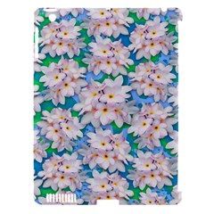 Plumeria Bouquet Exotic Summer Pattern  Apple iPad 3/4 Hardshell Case (Compatible with Smart Cover)