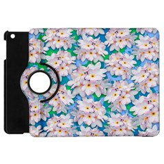 Plumeria Bouquet Exotic Summer Pattern  Apple iPad Mini Flip 360 Case