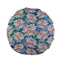 Plumeria Bouquet Exotic Summer Pattern  Standard 15  Premium Round Cushions