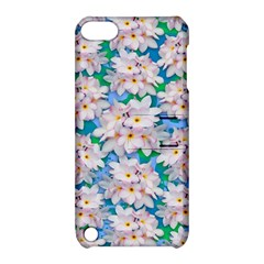 Plumeria Bouquet Exotic Summer Pattern  Apple iPod Touch 5 Hardshell Case with Stand