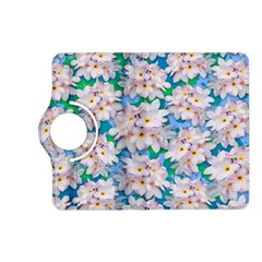 Plumeria Bouquet Exotic Summer Pattern  Kindle Fire HD (2013) Flip 360 Case