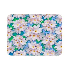 Plumeria Bouquet Exotic Summer Pattern  Double Sided Flano Blanket (Mini)